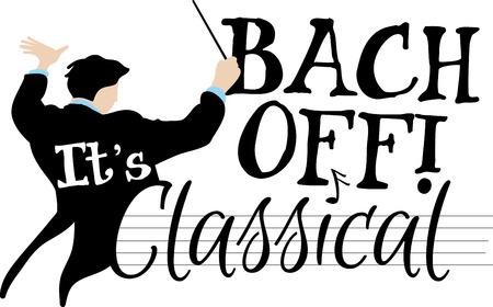 古典単語・音楽ファンのための指揮者。  イラスト・ベクター素材