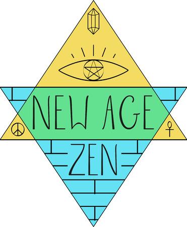 新しい時代の言葉と音楽ファンのためのシンボル。