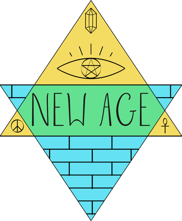 new age music: New Age words and symbols for music fans.