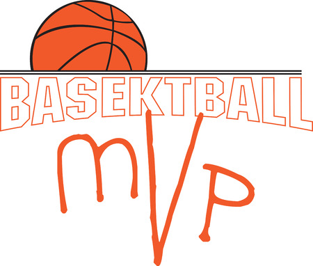 mvp: Basketball is not just a sport, its a lifestyle! So, flaunt it with this design embellished on a special shirt or a sport bag for that special basketball fan. Illustration