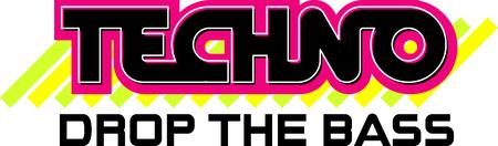Mot de Techno avec des accents modernes pour les fans de musique. Banque d'images - 43976070