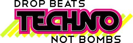 Mot de Techno avec des accents modernes pour les fans de musique. Banque d'images - 43976073