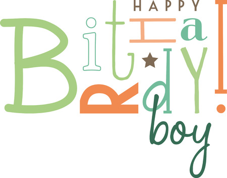 which one: Use this text design, on any outfit which can be a perfect gift for wishing a Happy Birthday to your dear one. Illustration