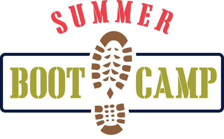 Make your boot camp more fun  energizing with this design on your camp gear.