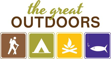 Make your trek  camping more fun  energizing with this design on your camping gear. Illustration