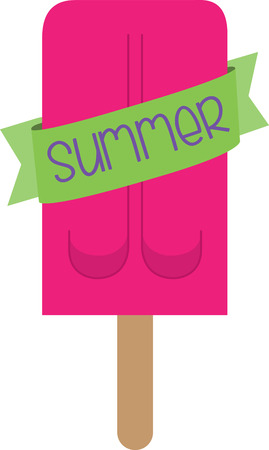 popsicle: Nothing is as refreshing as an ice cream. Make this lip smacking design a part of your summer project.