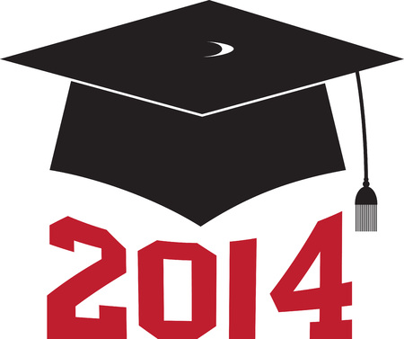 alumnus: Have a memorable graduation by embellishing this elegant design on your graduation gown or cap. Illustration