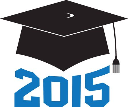 gown: Have a memorable graduation by embellishing this elegant design on your graduation gown or cap. Illustration