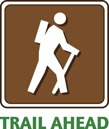 hiking trail: Hike in style with this stylish design embellished on your hiking gear.