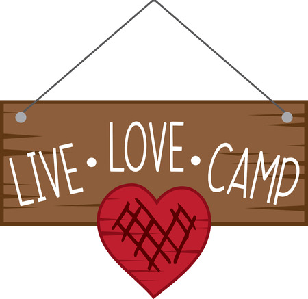 Love camping if yes, embellish this lovely sign board design on your camping gear.
