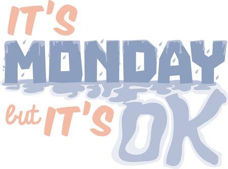月曜日ブルース週この月曜日本文デザインであなたの次のプロジェクトの開始を得た。