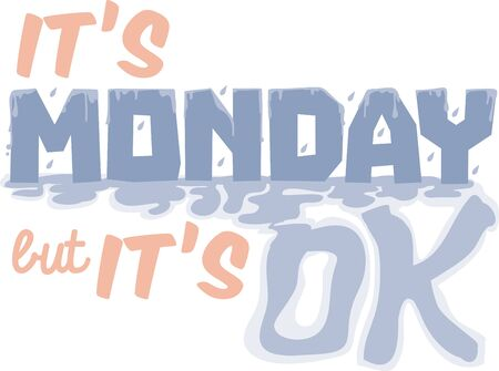 Got Monday blues Get the week started with this Monday text design on your next project.