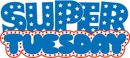 Waiting for the Super Tuesday Then this Tuesday text design would be perfect for foil on your election gear. Ilustração