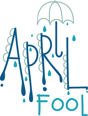 April shower brings May flowers. Use this April text design for your kitchen towel or chef apron projects.