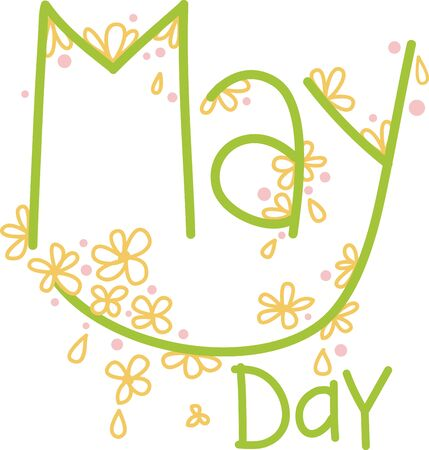 Wish your dear ones with these pretty May blooms text design to say... Have a nice May Day!