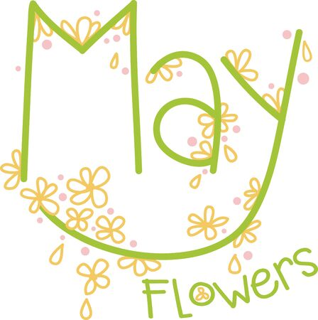blooms: Wish your dear ones with these pretty May blooms text design to say... Have a nice May Day!