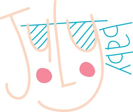 keep in: Hot July brings cooling showers. So,keep smiling in July with this smiley text design for your summer projects.