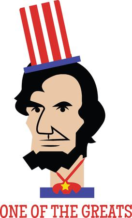 president of the usa: Love Lincoln Then, this design is just perfect for embellishing on your clothing  accessories.