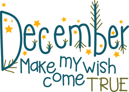 December is a month of lights, snow and feasts. Its time to brighten up your Christmas holiday project with this beautiful text design. Illustration