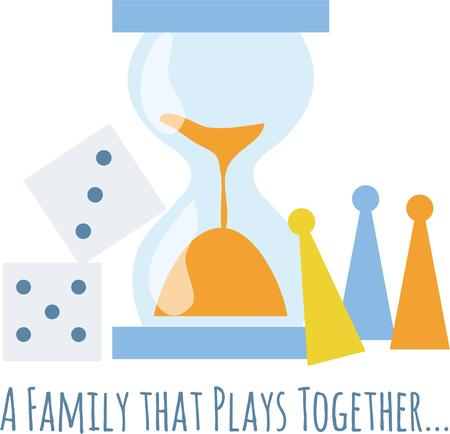 token: A family which plays together stays together! Treasure these moments, with this design which would look great on any of your furniture, kitchen or personal clothing. Illustration