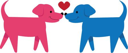 canines: Love canines then this design would be just perfect for decorate your home project. Illustration