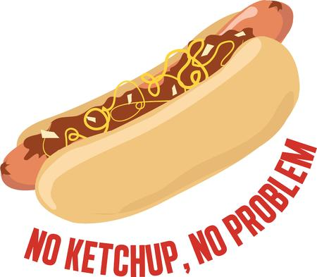 Love Hotdogs Then relish it with this design on any of your home or clothing accessories. 向量圖像