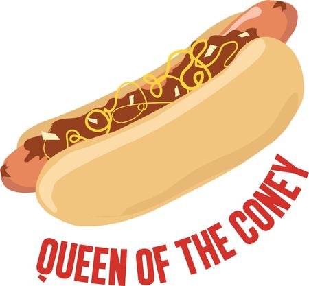 Love Hotdogs Then relish it with this design on any of your home or clothing accessories. Ilustração