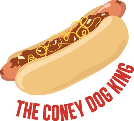 coney: Love Hotdogs Then relish it with this design on any of your home or clothing accessories. Illustration