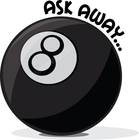 8 ball: Love fortune telling then you ought to have this 8 Ball design on any of your personal or home fabric. Illustration