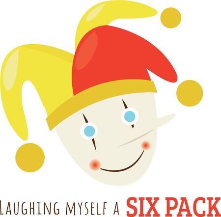 He makes others laugh. If you too love him, then  this Clown design would just be perfect on your   your children clothing  accessories.