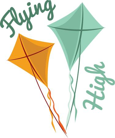 Fly like a kite, with this motivating design on your clothing or accessories.