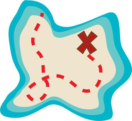 x marks the spot: Going on a treasure hunt then this Pirate Map would just be perfect on your activity gear.