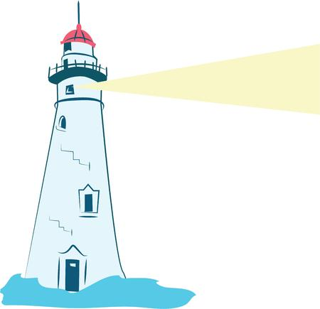 Use this Lighthouse design on any of your clothing  clothing accessories or as a gift to your favorite sailor. Ilustração