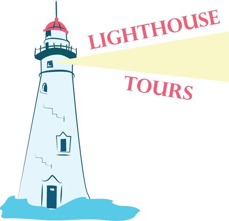 Lighthouse design on any of your   clothing accessories or as a gift to your favorite sailor. Ilustração