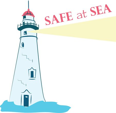Lighthouse design on any of your   clothing accessories or as a gift to your favorite sailor.