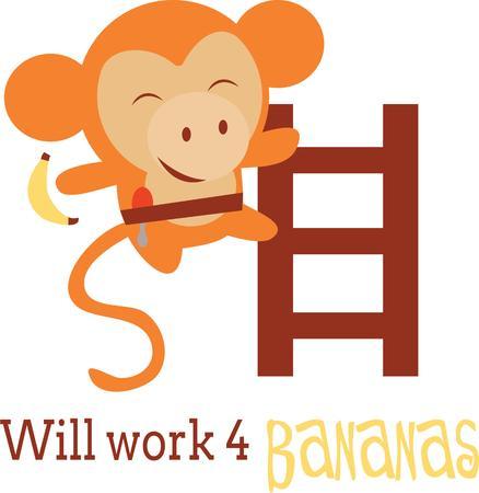 Este diseño lindo del mono se vería fabuloso en sus hijos mochila escolar, accesorios de ropa de moda. Foto de archivo - 42496919
