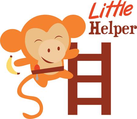 This Cute Monkey design would look fabulous on your kids school backpack, clothing  fashion accessories. 向量圖像