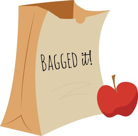 Use this Apple  Bag design on any of your furniture clothing, kitchen towel, chef apron projects. Illustration