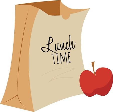 Use this Apple  Bag design on any of your furniture clothing, kitchen towel, chef apron projects. Illusztráció