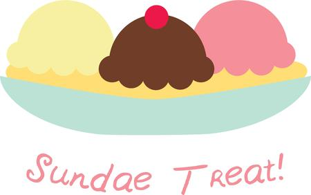 Beat the heat! With this cool Ice Cream design on your personal or kitchen clothing accessories.