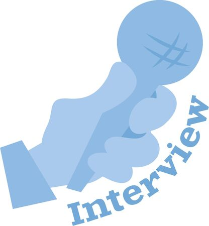 interviewer: Use this Microphone design to gift your favorite interviewer. Illustration