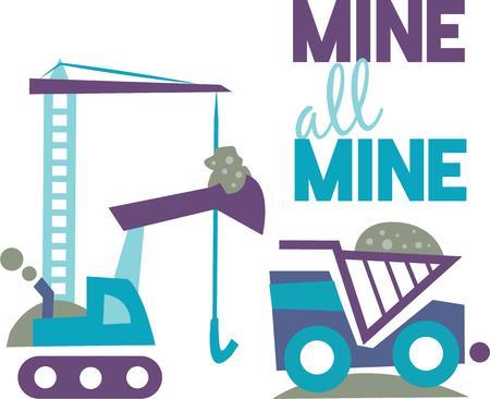 Dit Mijnwerkers Life ontwerp zou een grote gifting idee voor uw favoriete mijnwerker te maken. Stock Illustratie