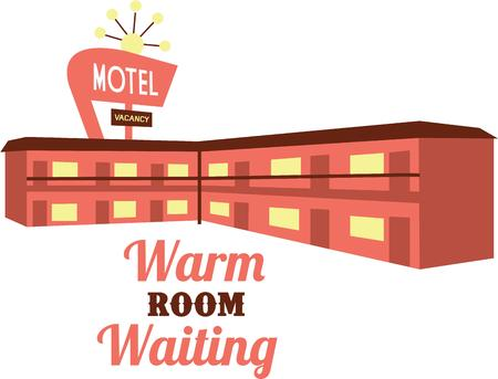 Are you an avid traveler then this Motel design would look great on your travel pack or clothing.