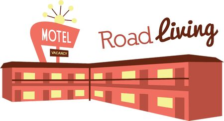 avid: Are you an avid traveler then this Motel design would look great on your travel pack or clothing.
