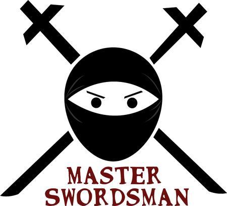 Sie sollten diesen Entwurf haben, wenn Ihr sind ein Ninja Liebhaber. Dies würde auf deine Kleider oder andere persönliche Kleidung zu suchen. Vektorgrafik