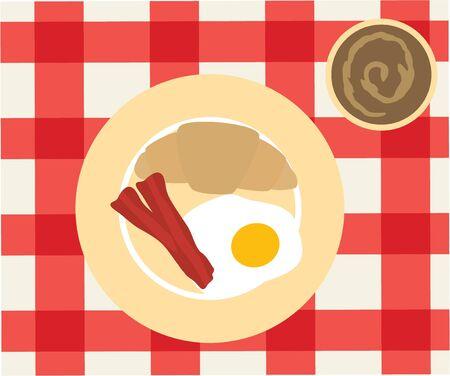 mesa de comedor: Comience el d�a de una manera saludable! Con este dise�o, que se ver�a muy bien en su cubierta de mesa de comedor, papel de cocina o un delantal de chef.