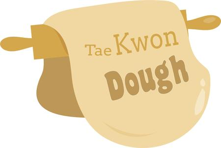 dough: Do the Dough! This design would look great on your kitchen clothing projects. Illustration