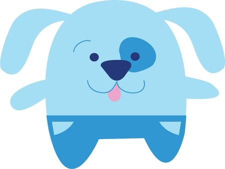 pooch: Kids will love this Puppy design on a school backpack or their casual outfits. Illustration