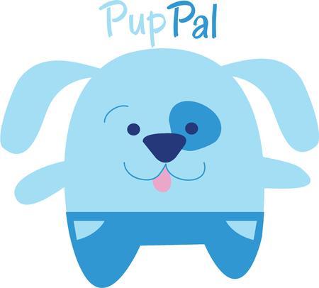 아이들은 학교 가방 또는 캐주얼 복장에이 강아지 디자인을 사랑합니다.