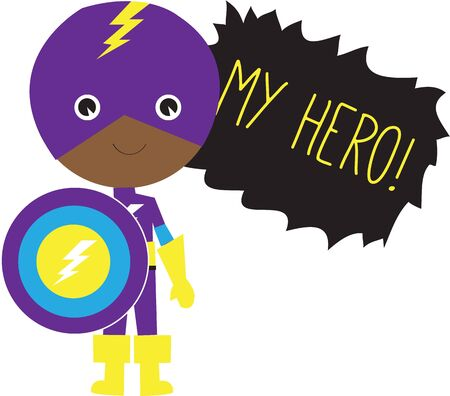 Kids are always fascinated with superheroes. They would love this design on a school backpack or casual clothing.
